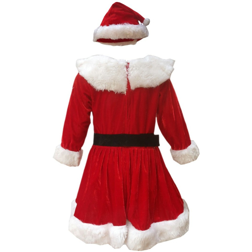 Buy Online KFD Santa Girl fancy dress for kids,Christmas Day costume ...