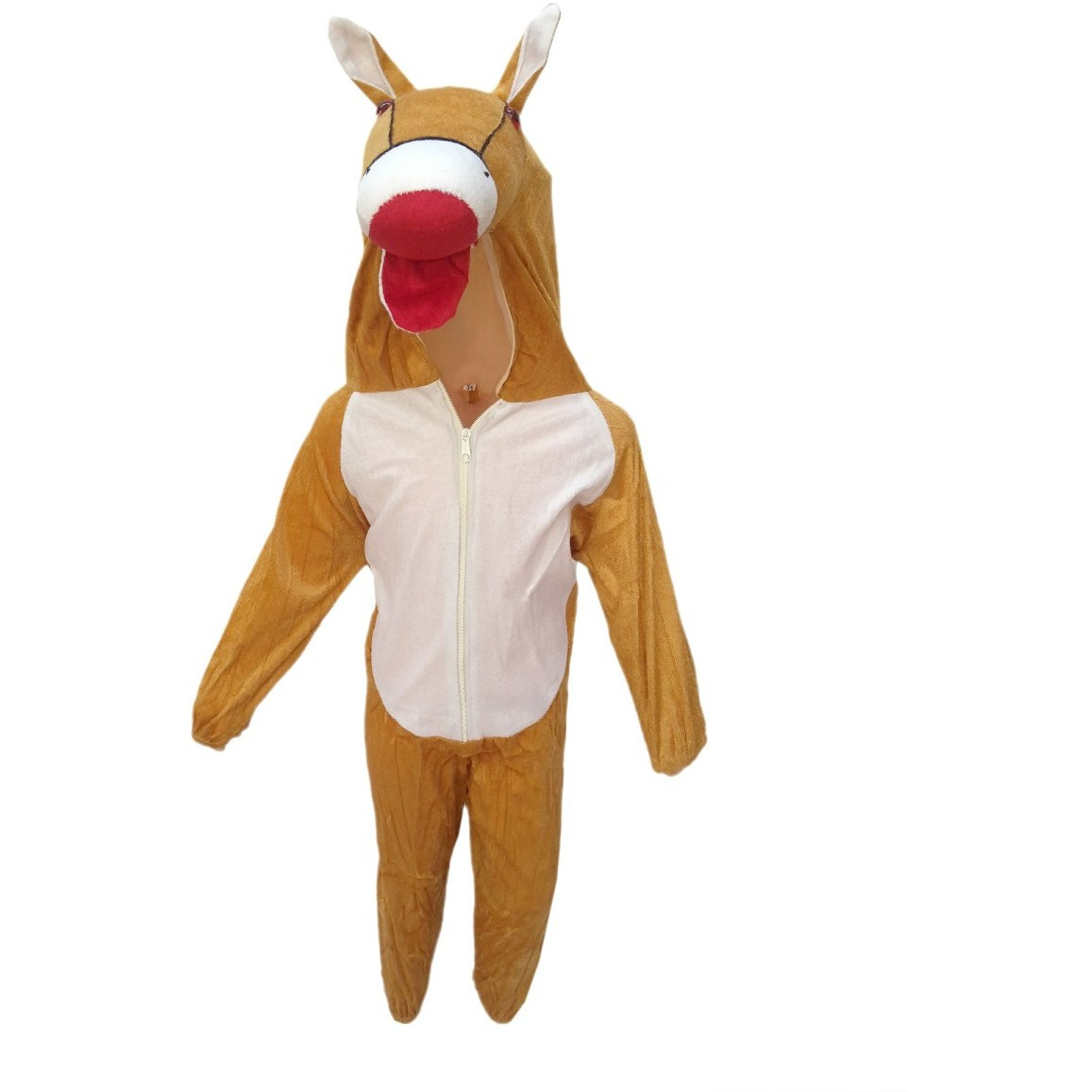 KFD Horse fancy dress for kids,Farm Animal Costume for School Annual function/Theme Party/Competition/Stage Shows Dress (Size:7 TO 8)