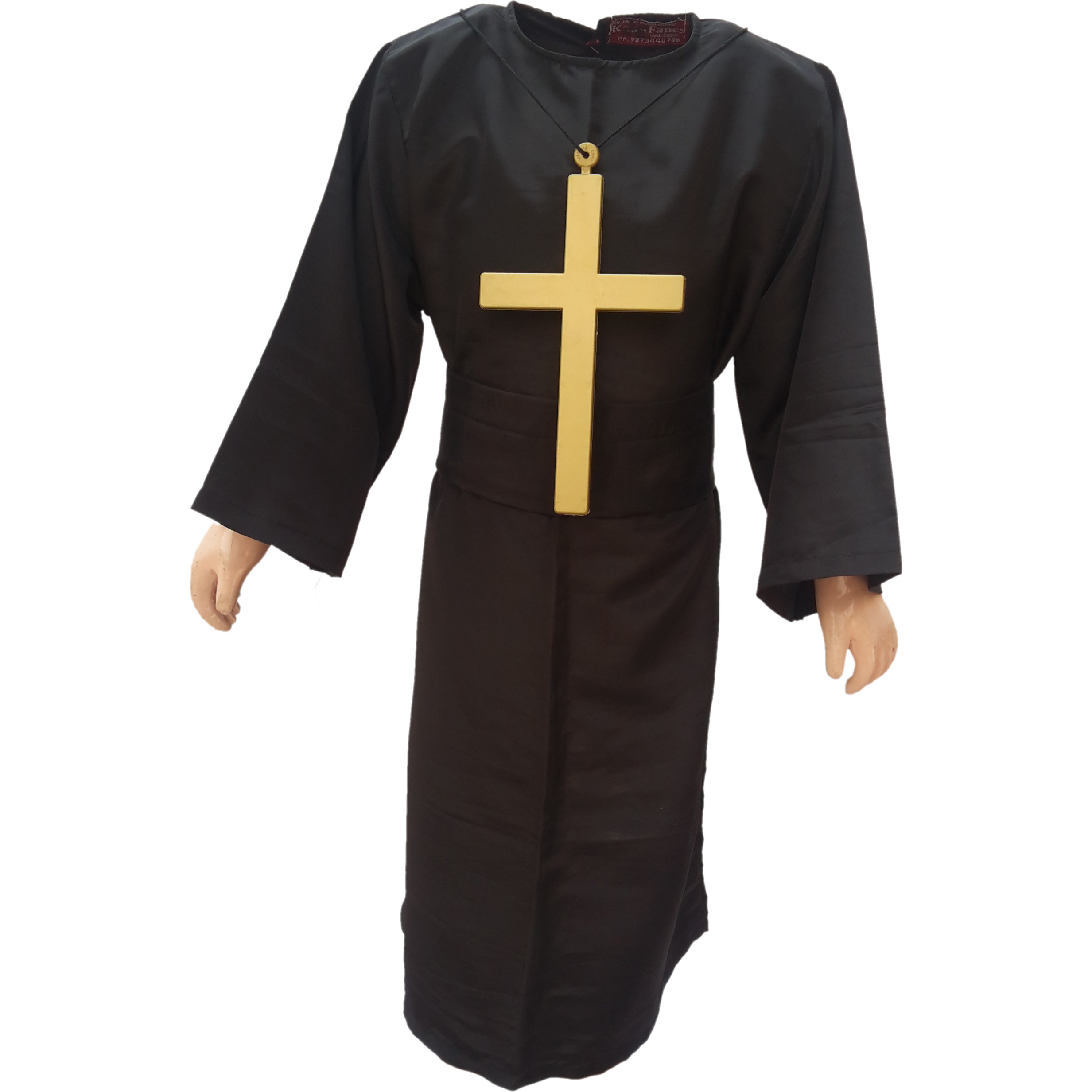 KFD Priest fancy dress for kids,Catholic Costume for Annual function/Theme Party/Competition/Stage Shows/Birthday Party Dress