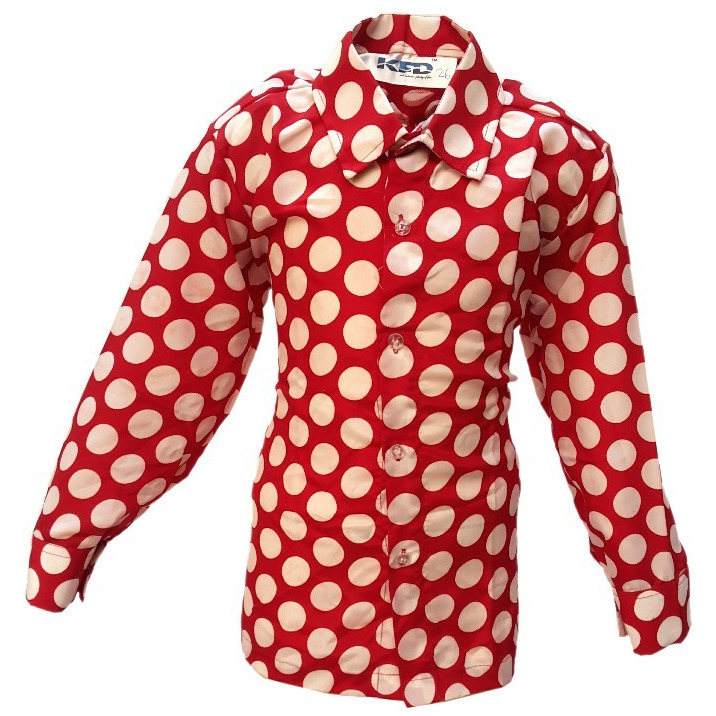 KFD Polka Dot Shirt fancy dress for kids,Western Costume for Annual function/Theme Party/Competition/Stage Shows/Birthday Party Dress
