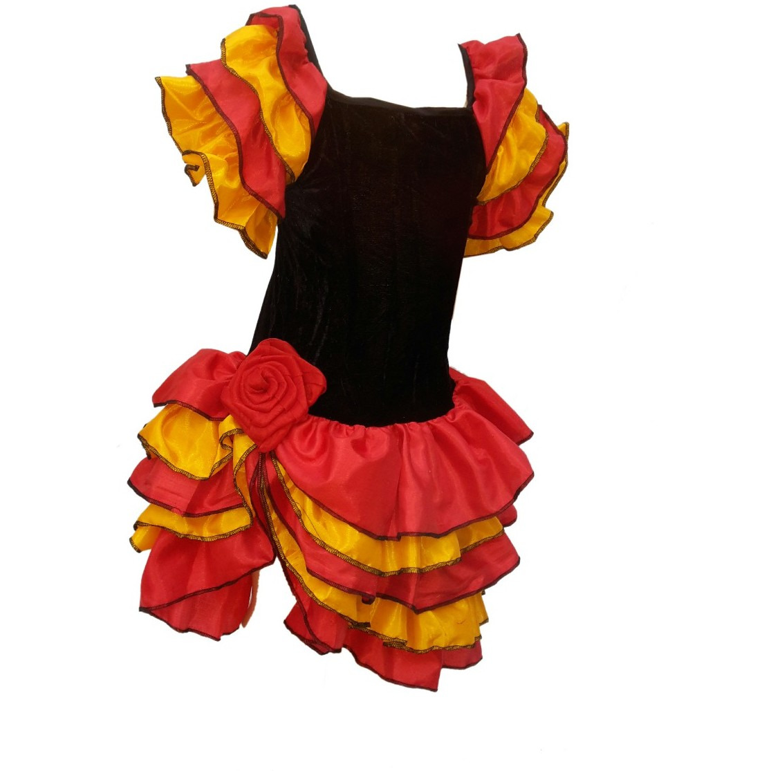 KFD Salsa Girl fancy dress for kids,Western Costume for Annual function/Theme Party/Competition/Stage Shows/Birthday Party Dress