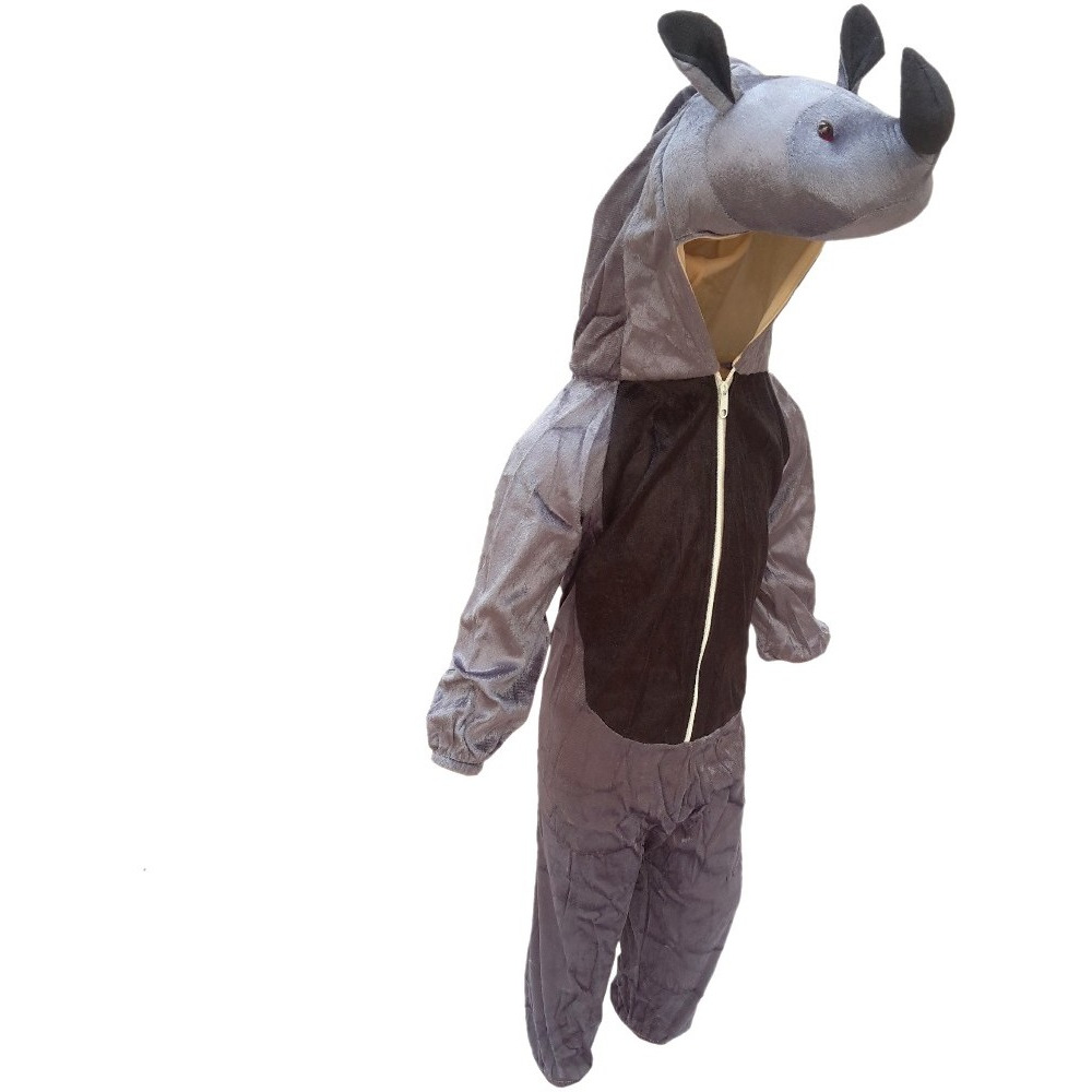 KFD Rhino fancy dress for kids,Wild Animal Costume for School Annual function/Theme Party/Competition/Stage Shows Dress