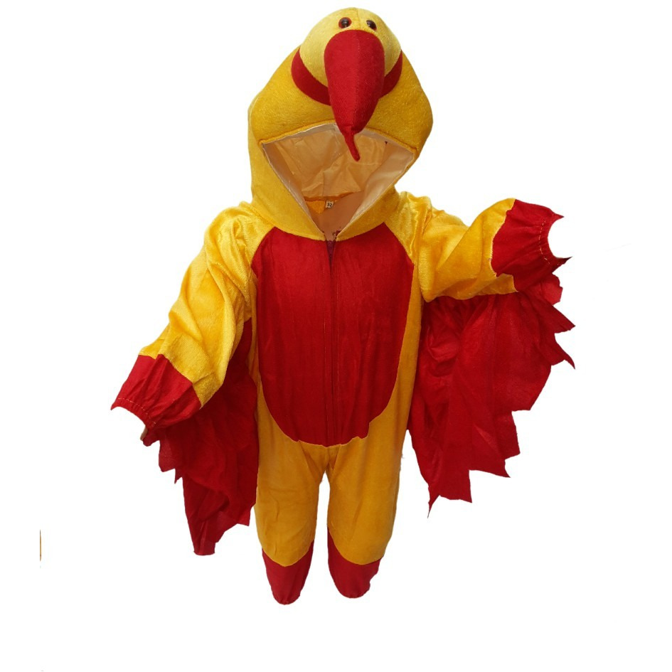 KFD Macaw Bird fancy dress for kids,Bird Costume for School Annual function/Theme Party/Competition/Stage Shows Dress