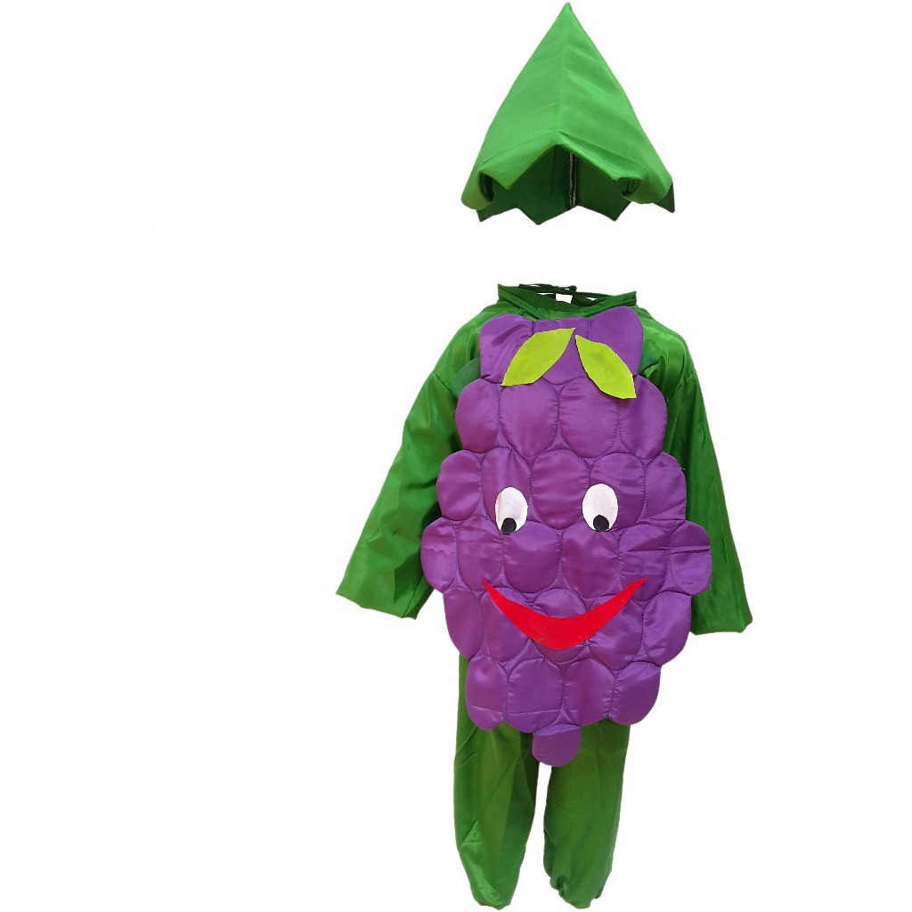 KFD Grapes fancy dress for kids,Fruits Costume for School Annual function/Theme Party/Competition/Stage Shows Dress