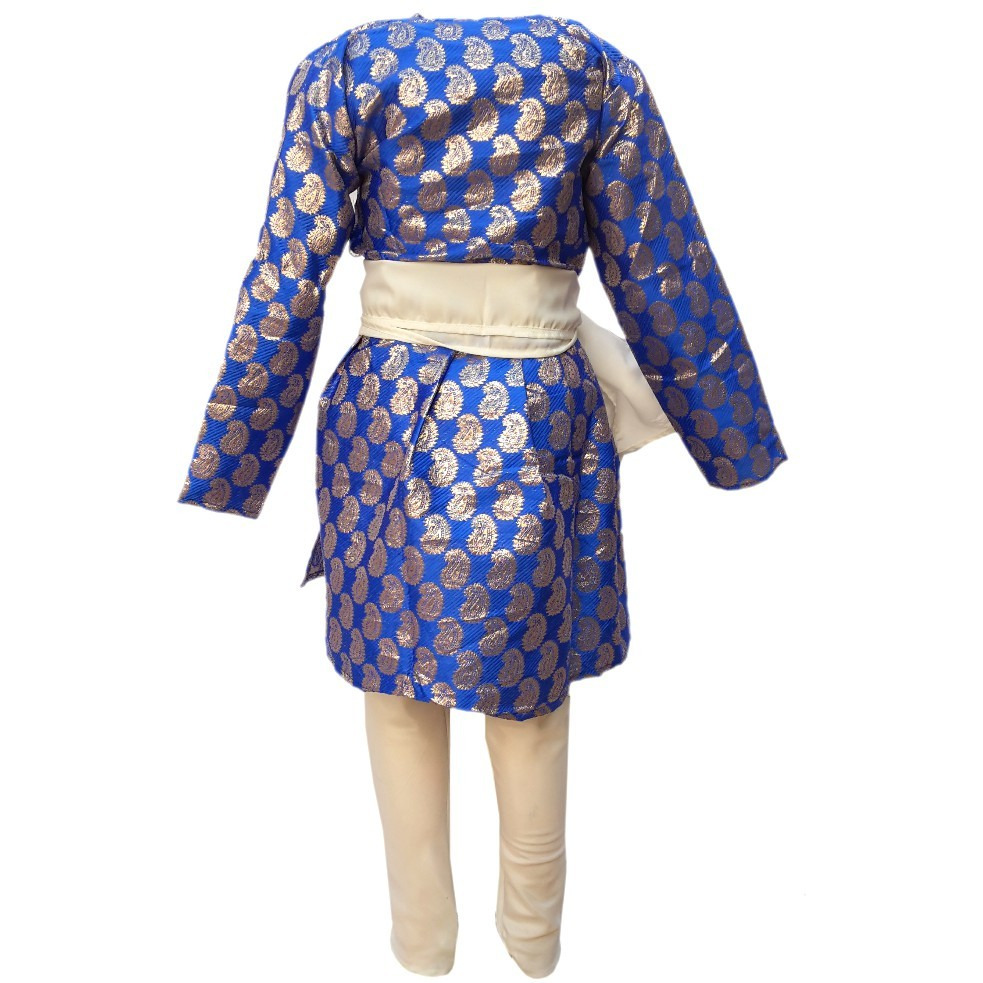 KFD Gujrati Boy Blue Color fancy dress for kids,Indian State Traditional Wear for Annual function/Theme party/Competition/Stage Shows Dress