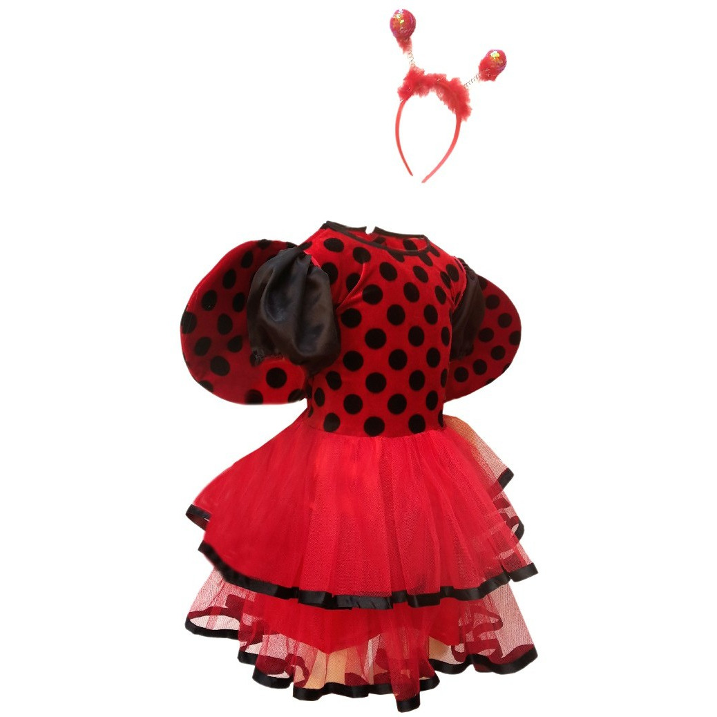 KFD Lady Bird Girl fancy dress for kids,Insect costume for Annual function/Theme Party/Competition/Stage Shows Dress