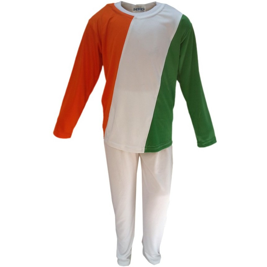 KFD Tri Color Track Suit fancy dress for kids,Western Costume for Annual function/Theme Party/Competition/Stage Shows/Birthday Party Dress