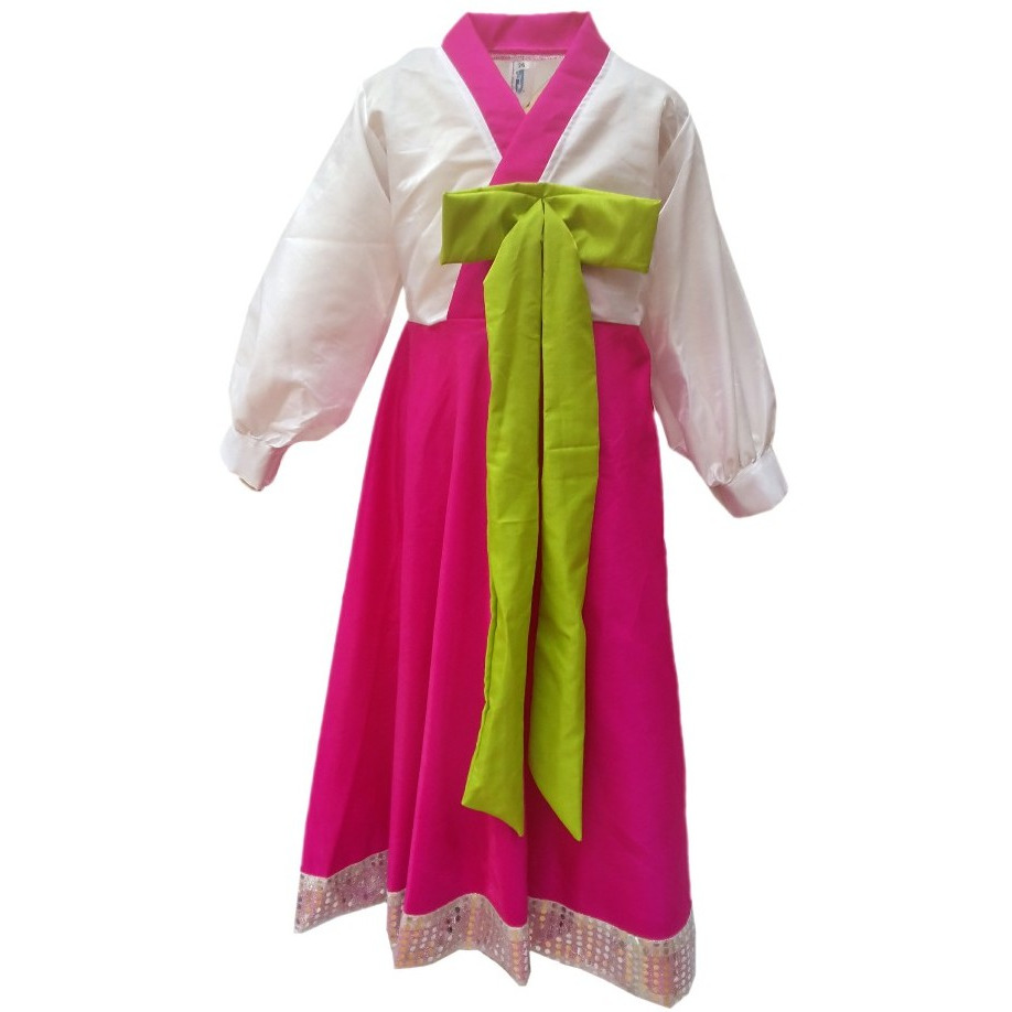 KFD Korean Girl fancy dress for kids,International Traditional Wear for Annual function/Theme Party/Competition/Stage Shows/Birthday Party Dress