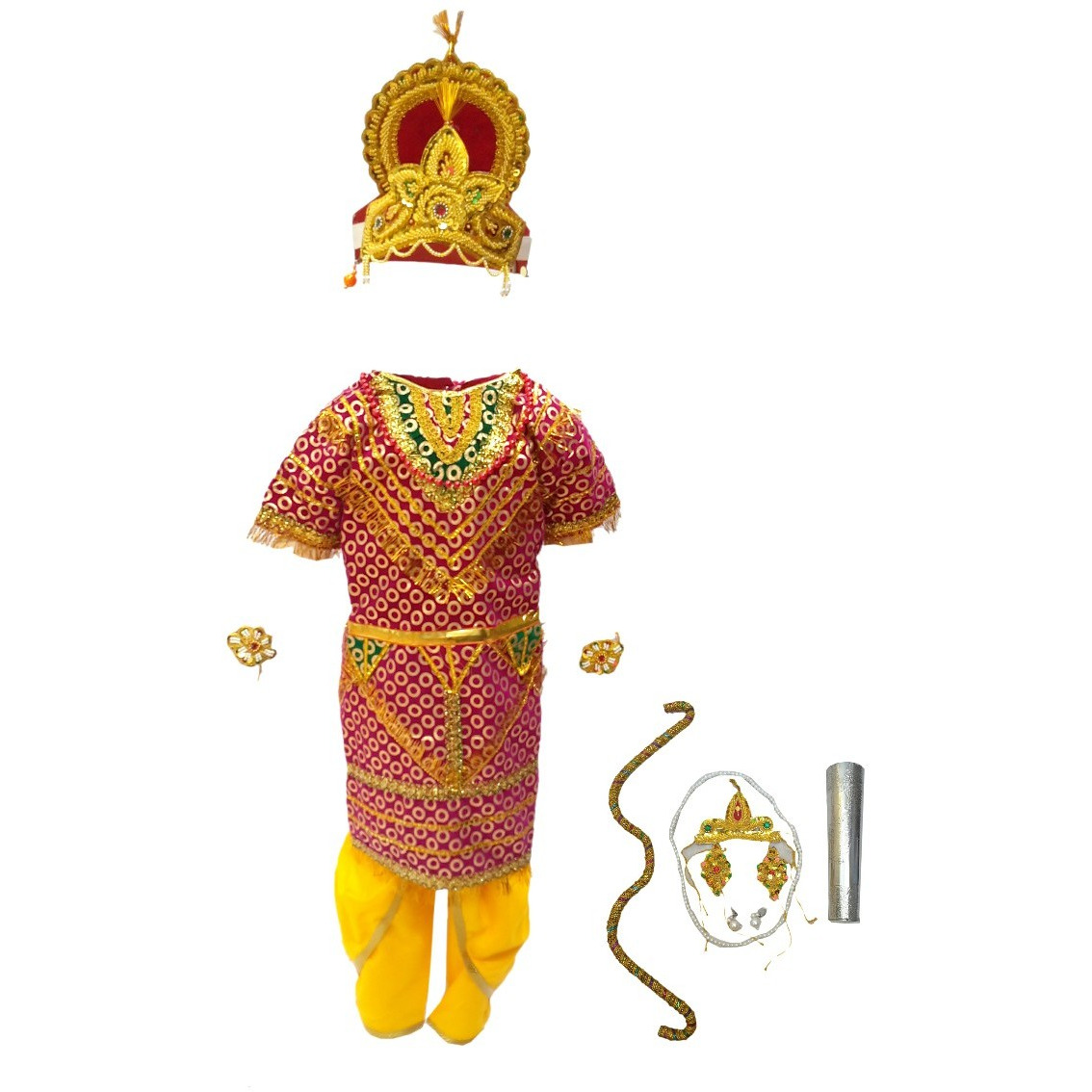 KFD Shri Ram fancy dress for kids,Ramleela/Dussehra/Mythological Character for Annual function/Theme Party/Competition/Stage Shows Dress