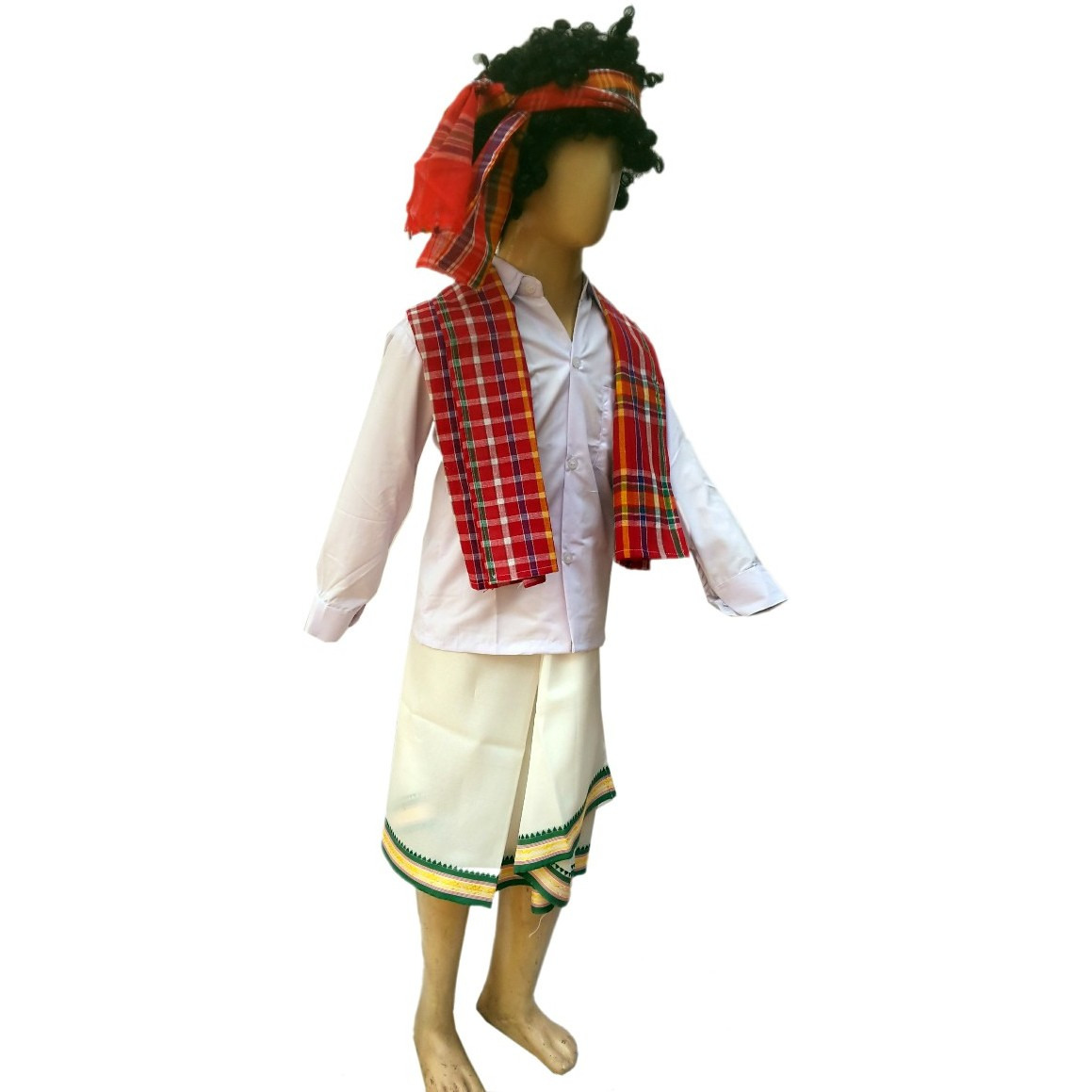 KFD Tripura Boy fancy dress for kids,Indian State Traditional Wear for Annual function/Theme Party/Competition/Stage Shows/Birthday Party Dress