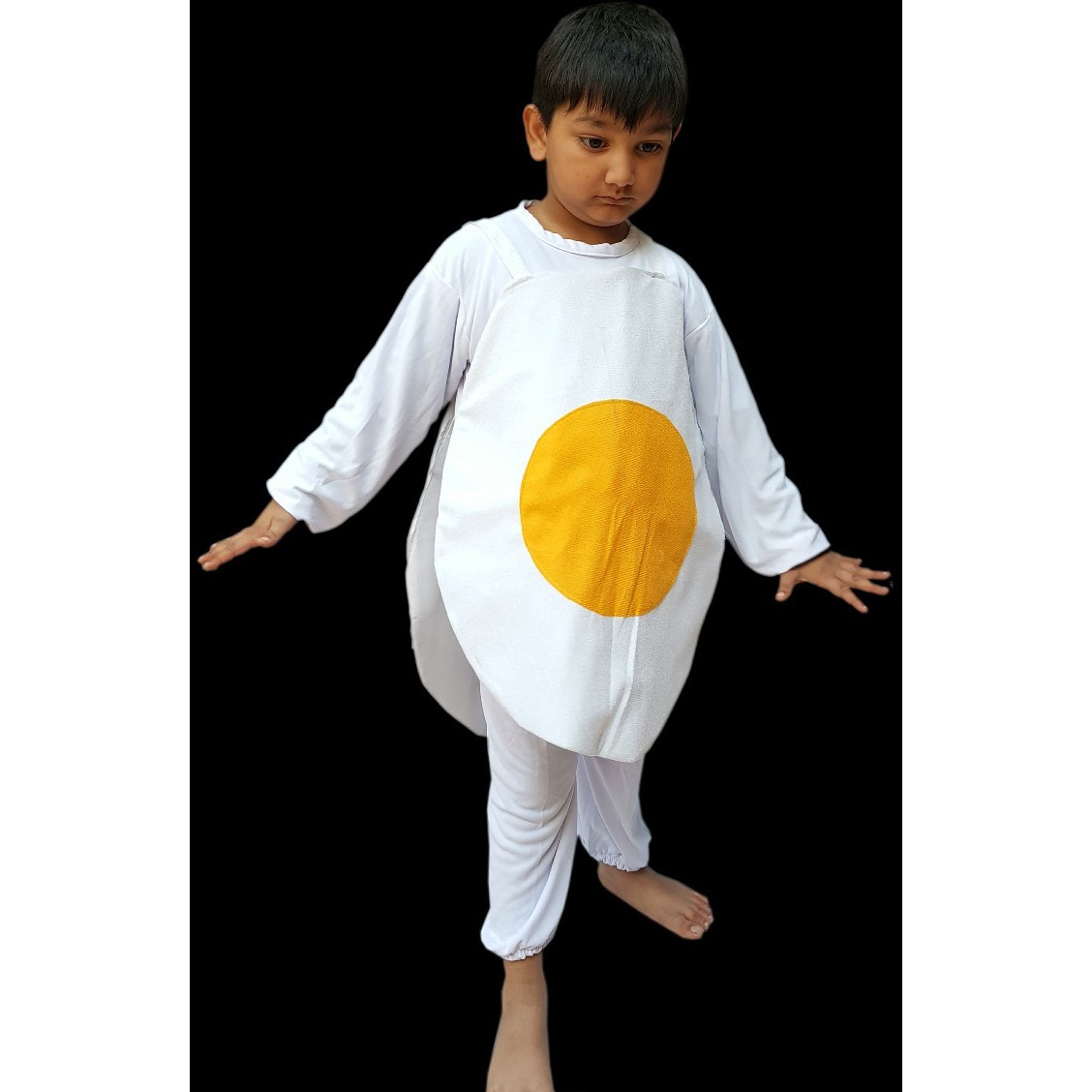 KFD Egg  fancy dress for kids,Costume of vegetable for Annual function/Theme Party/Competition/Stage Shows/Birthday Party Dress