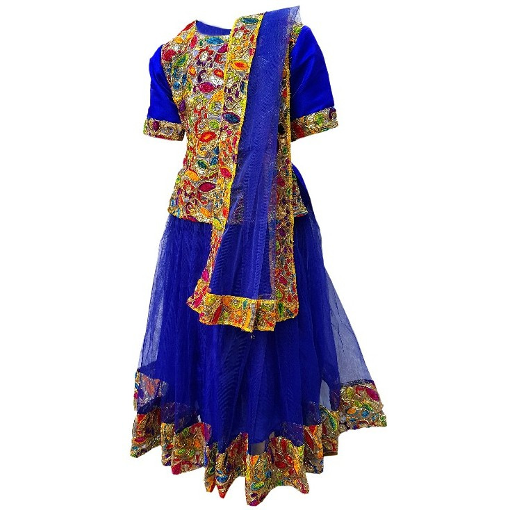 Kaku Fancy Dresses Saree In Yellow Color,Indian State/Dance Costume For Kids