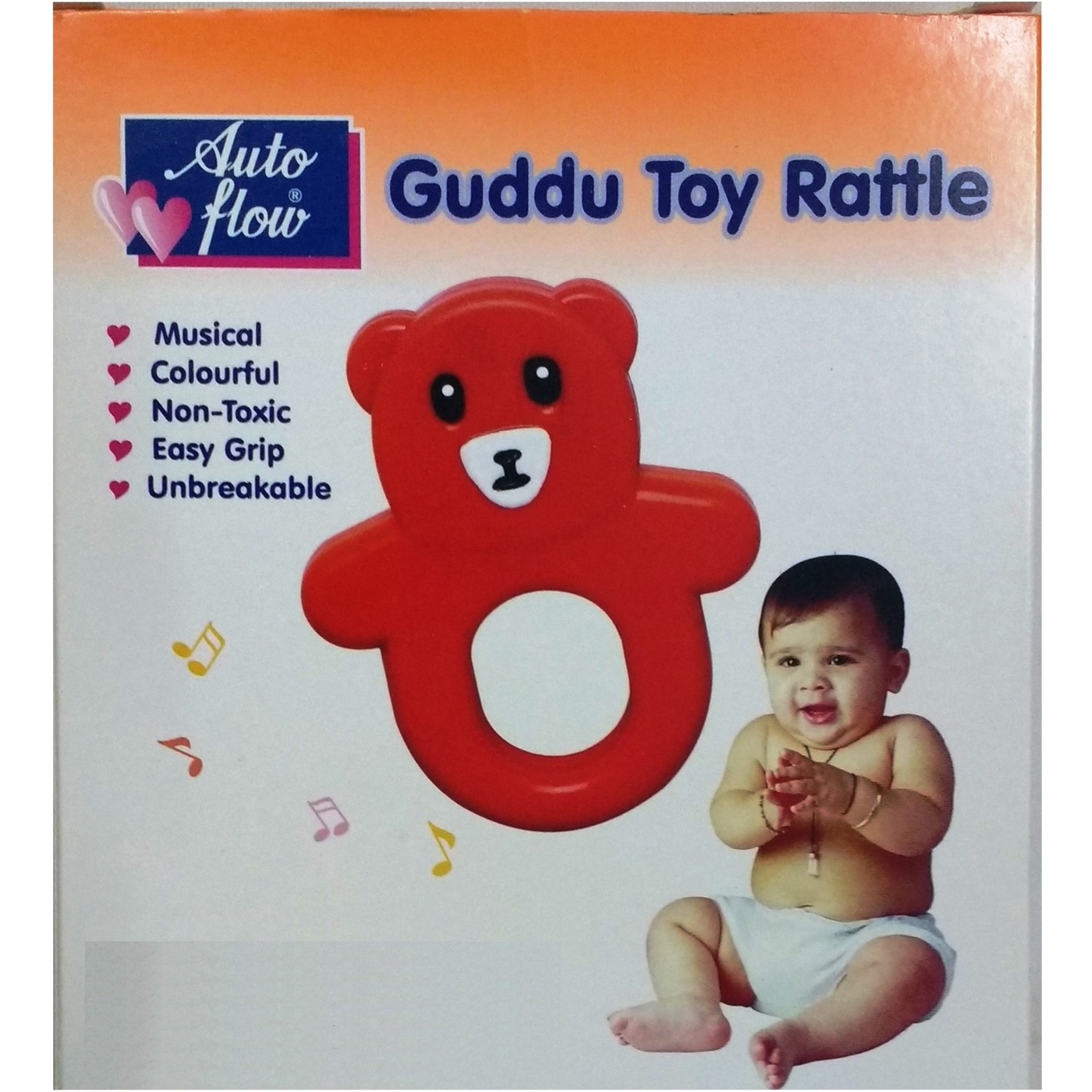 Auto Flow Rattle Toy - Guddu Toy - BT24 Combo Green