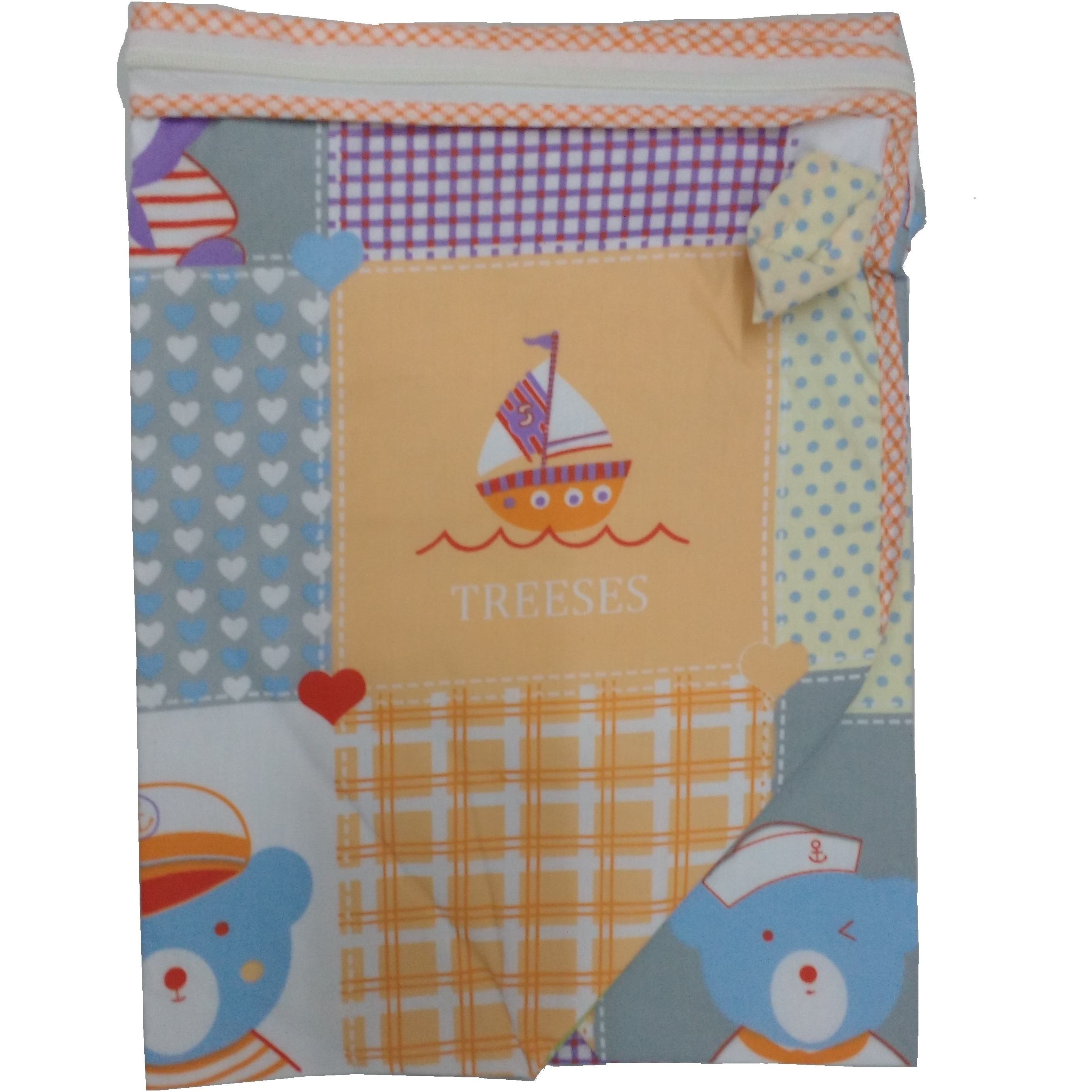 Love Baby Cradle Cloth Superfine With Side Net - 572 Blue
