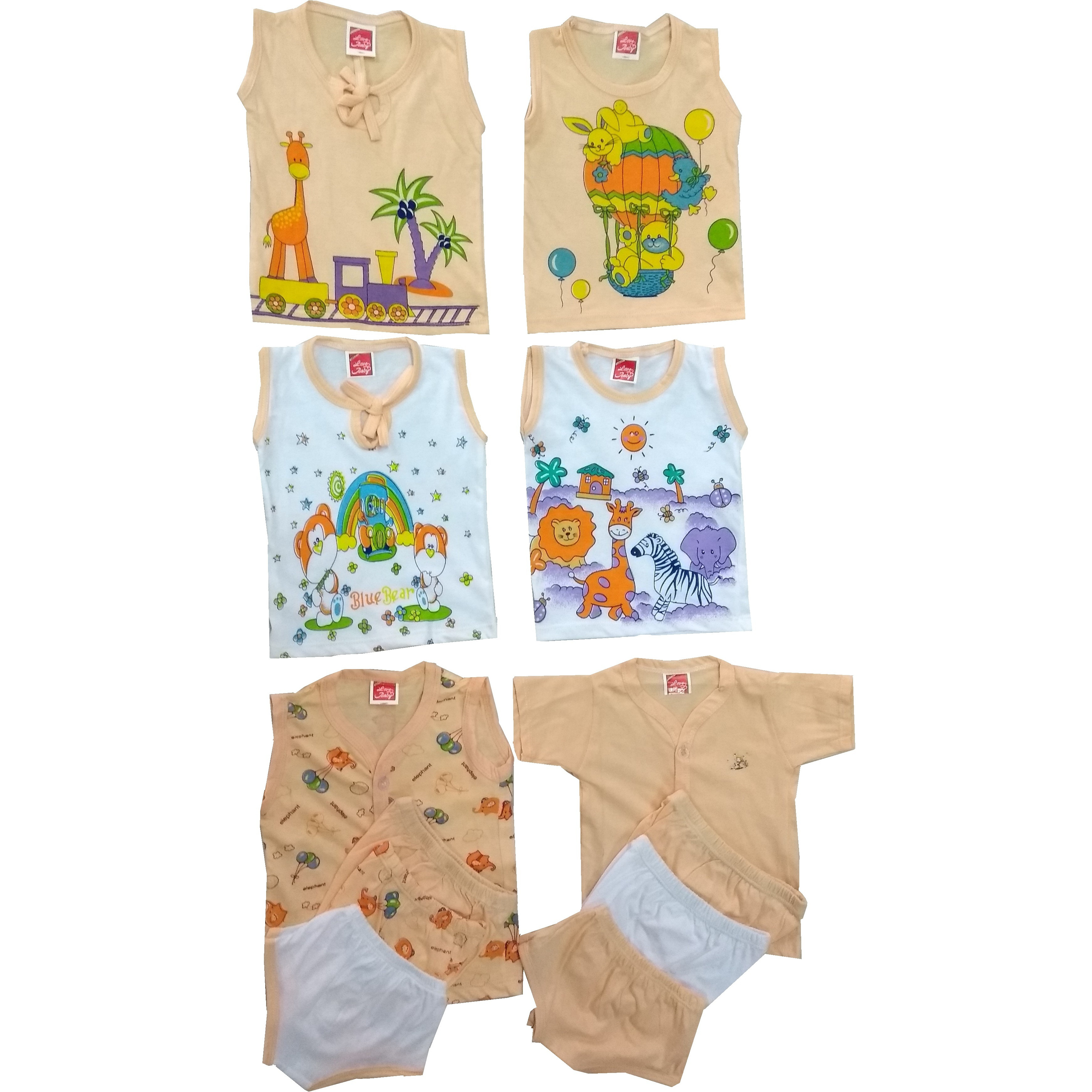 Love Baby Organic Clothing Ink Combo Set - BC09