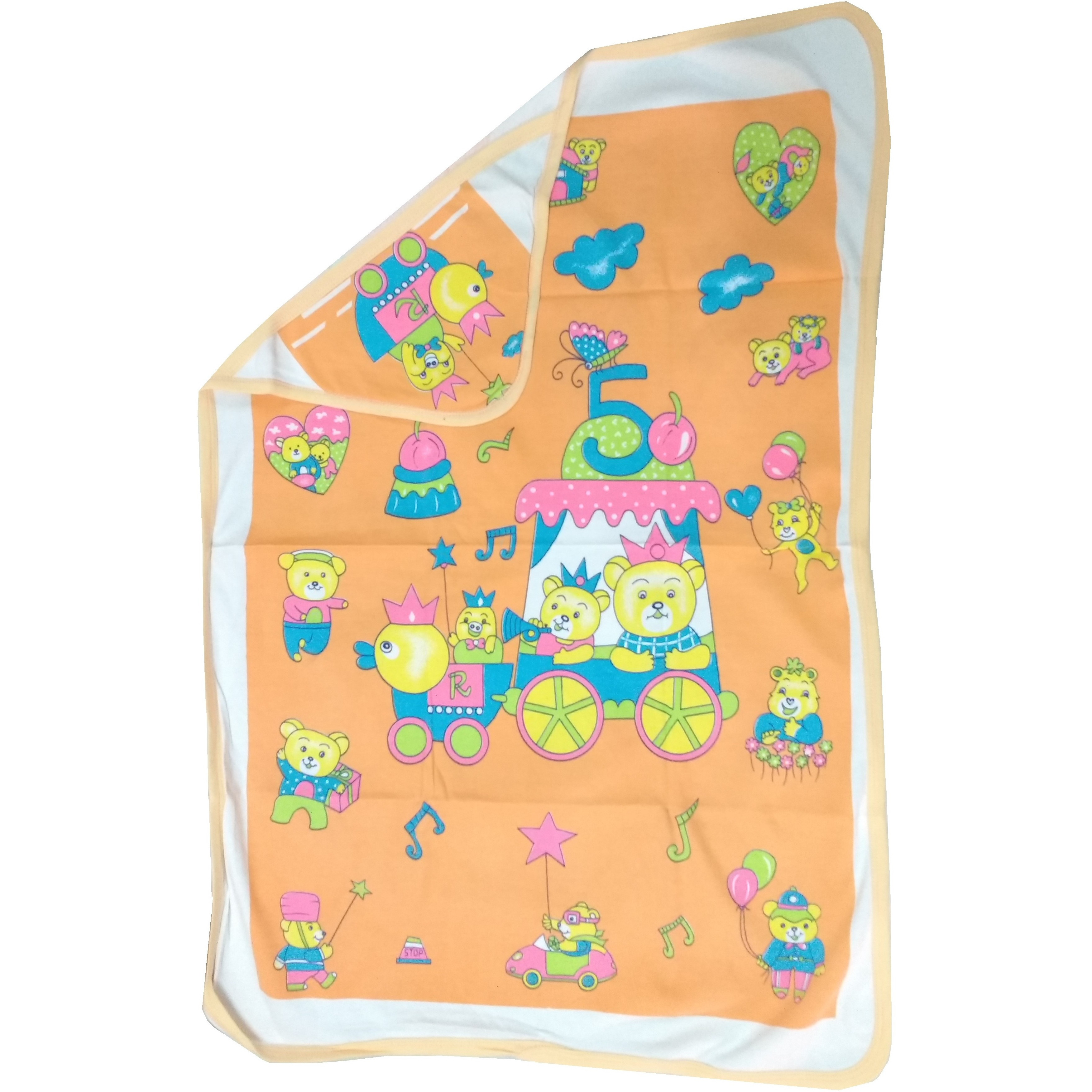 Love Baby Bath Towel Cotton Super Fine Printed With Hood - 1911 Peach