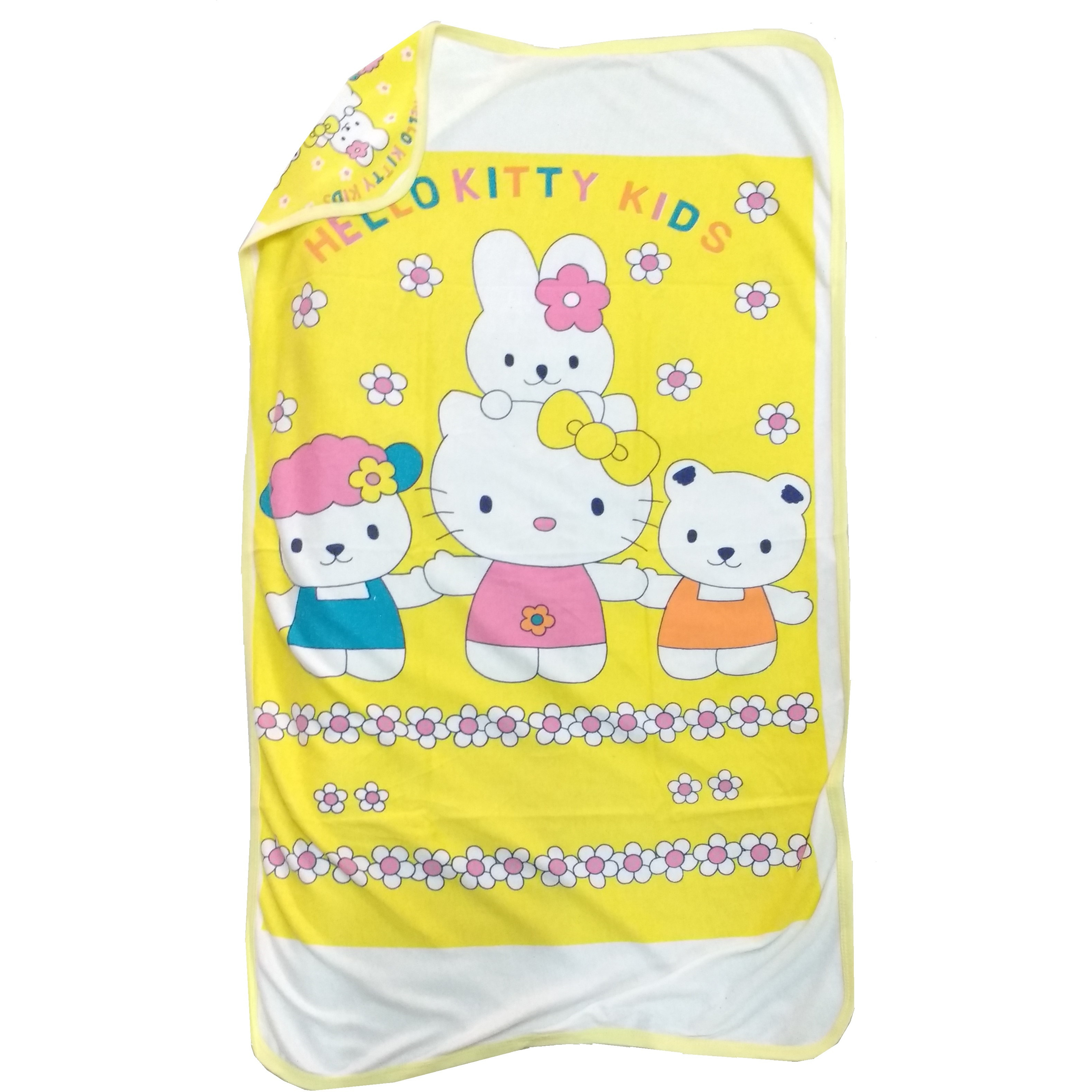 Love Baby Bath Towel Cotton Printed With Hood - 1911 P2 Yellow
