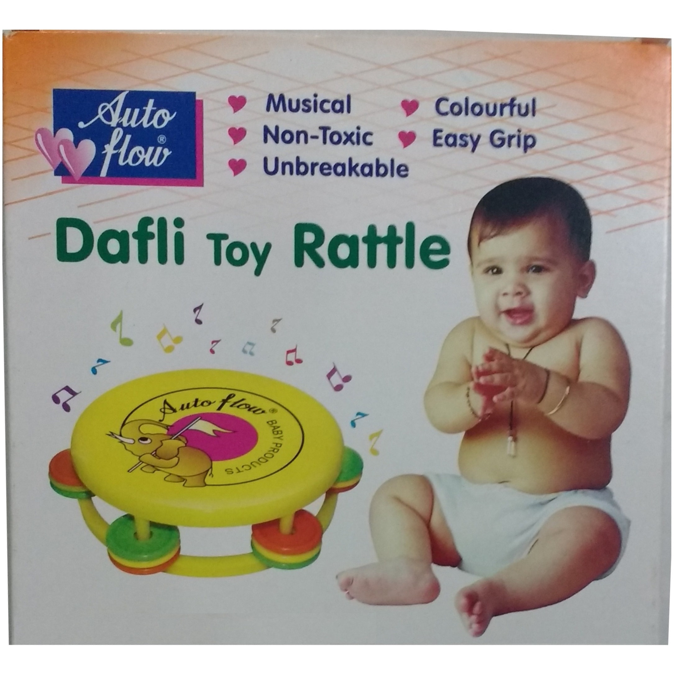 Auto Flow Rattle Toy- Dafli Toy - BT26 Yellow