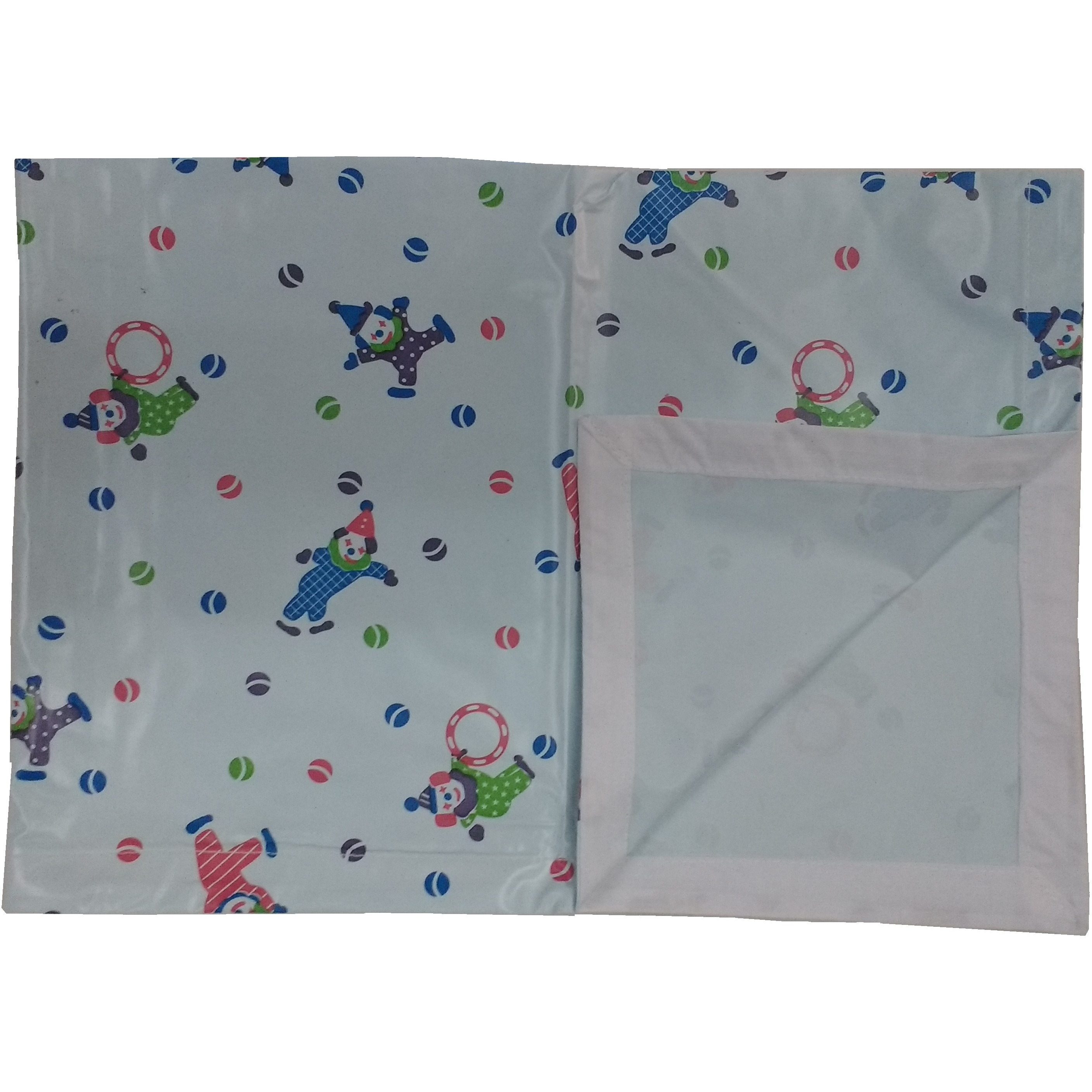 Love Baby Soft Bed Sheet Plastic - 713 A Blue