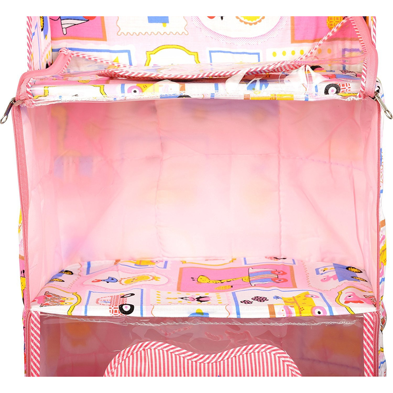 Love Baby Aminal and Transport Kids Cupboard 4 Step - DKBC18 Pink