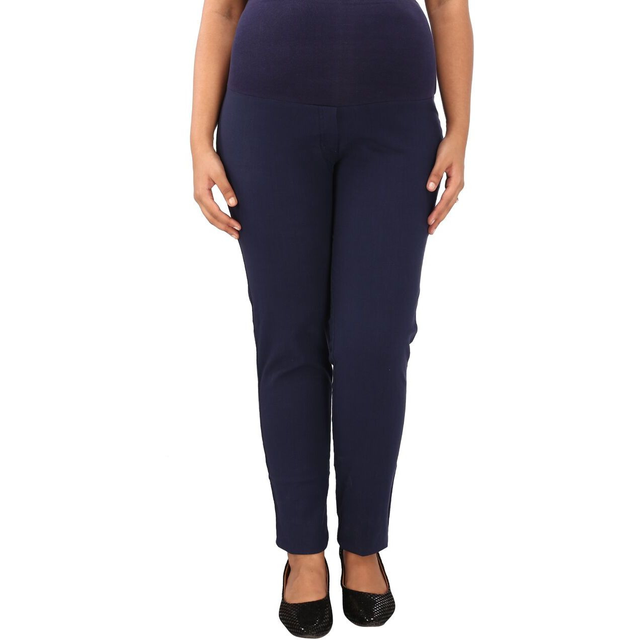Buy Online Mamma S Maternity Women S Navy Blue Linen Trouser From Usa Zifiti Com Page