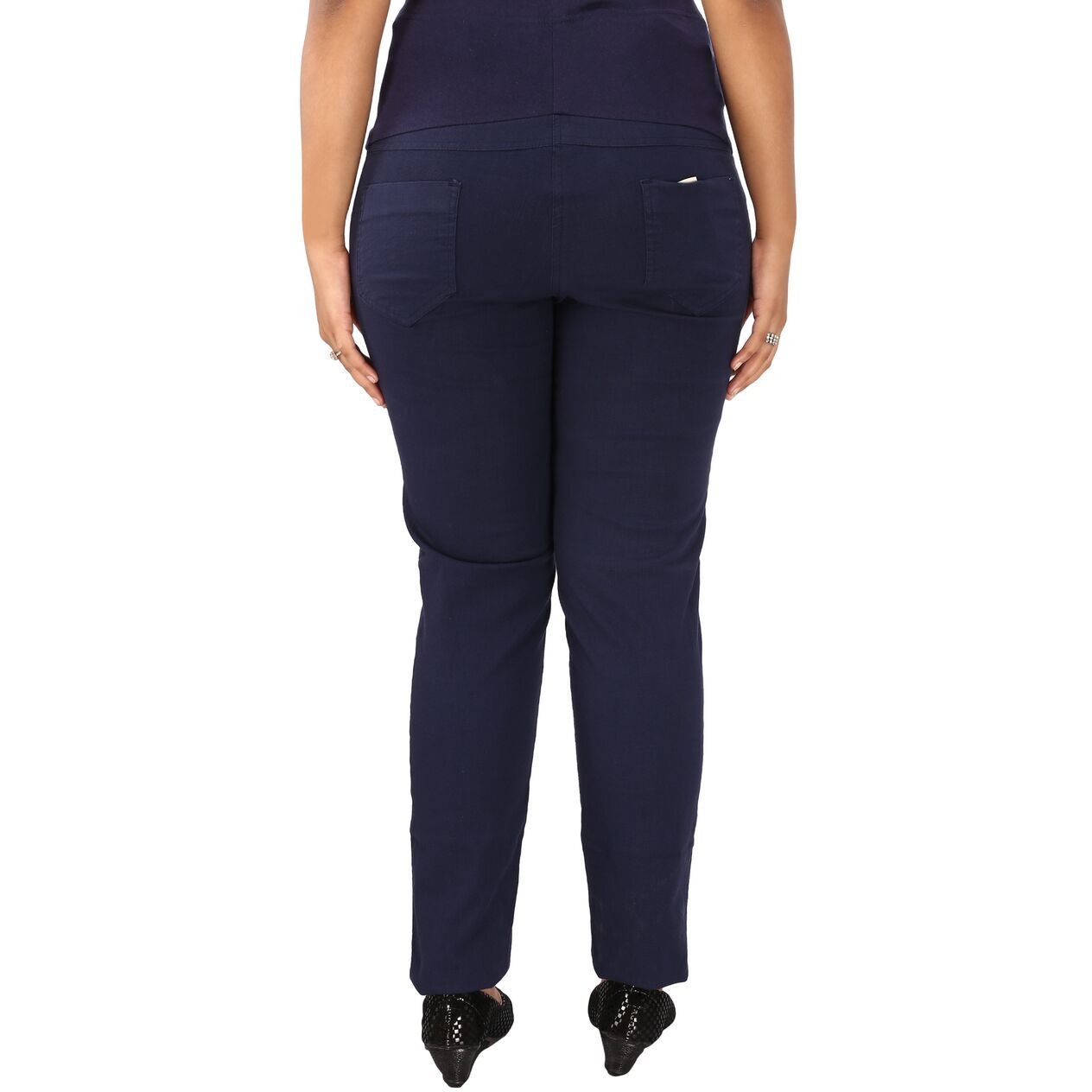357c5bd6b5e Buy Online Mamma s maternity Women s Navy Blue Linen Trouser from ...