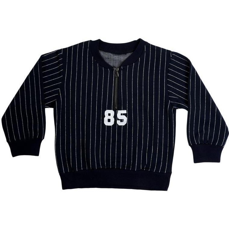 Superfie 85 Number Half Zip Style Full Sleeves Tshirt For Kids
