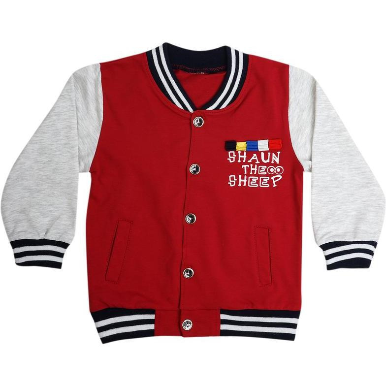 Superfie Double Colored Buttoned Cotton Jacket For Kids (Size:1 Yr)