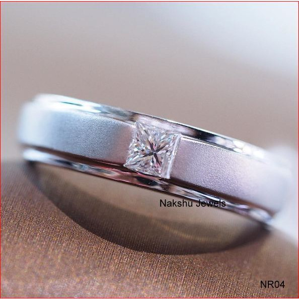 0.50 CT Off White 925 Sterling Silver Moissanite Wedding Rings For Women