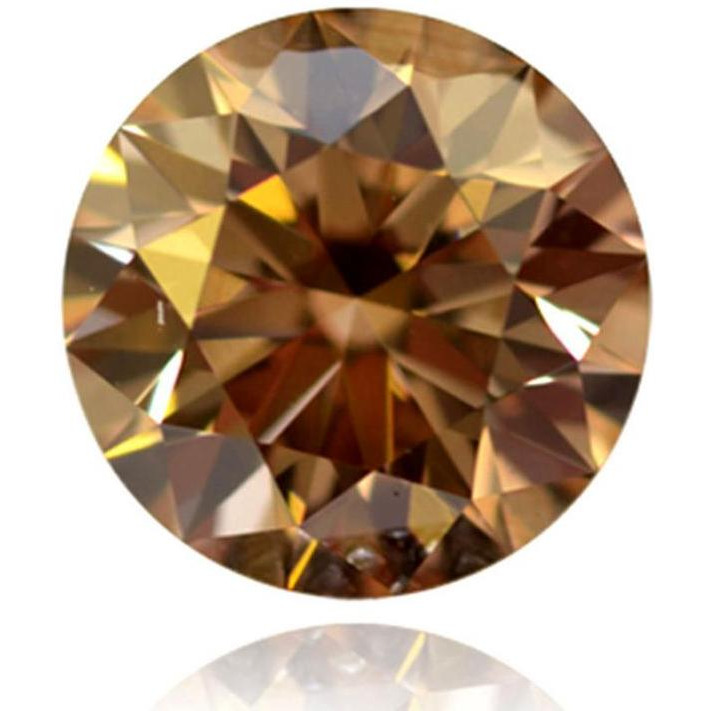 Nakshu Jewels 1.61 ct 7.89 MM VS1 Round Cut Loose Real Moissanite Use 4 Pendant/Ring Brown Color Stone