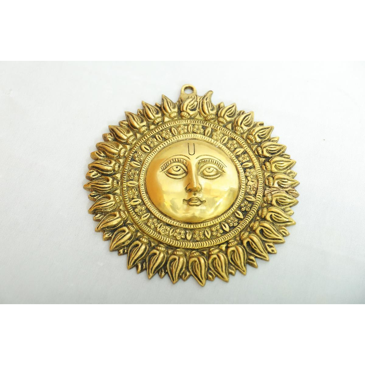 Indian Handcrafted  Brass wall hanging sun face-8inches