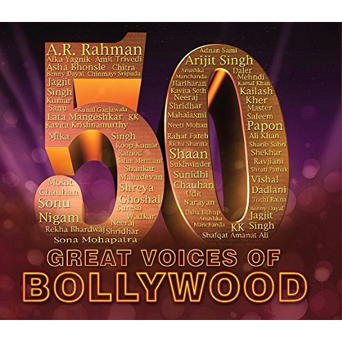 50 Great Voices Of Bollywood (3-CD Set)