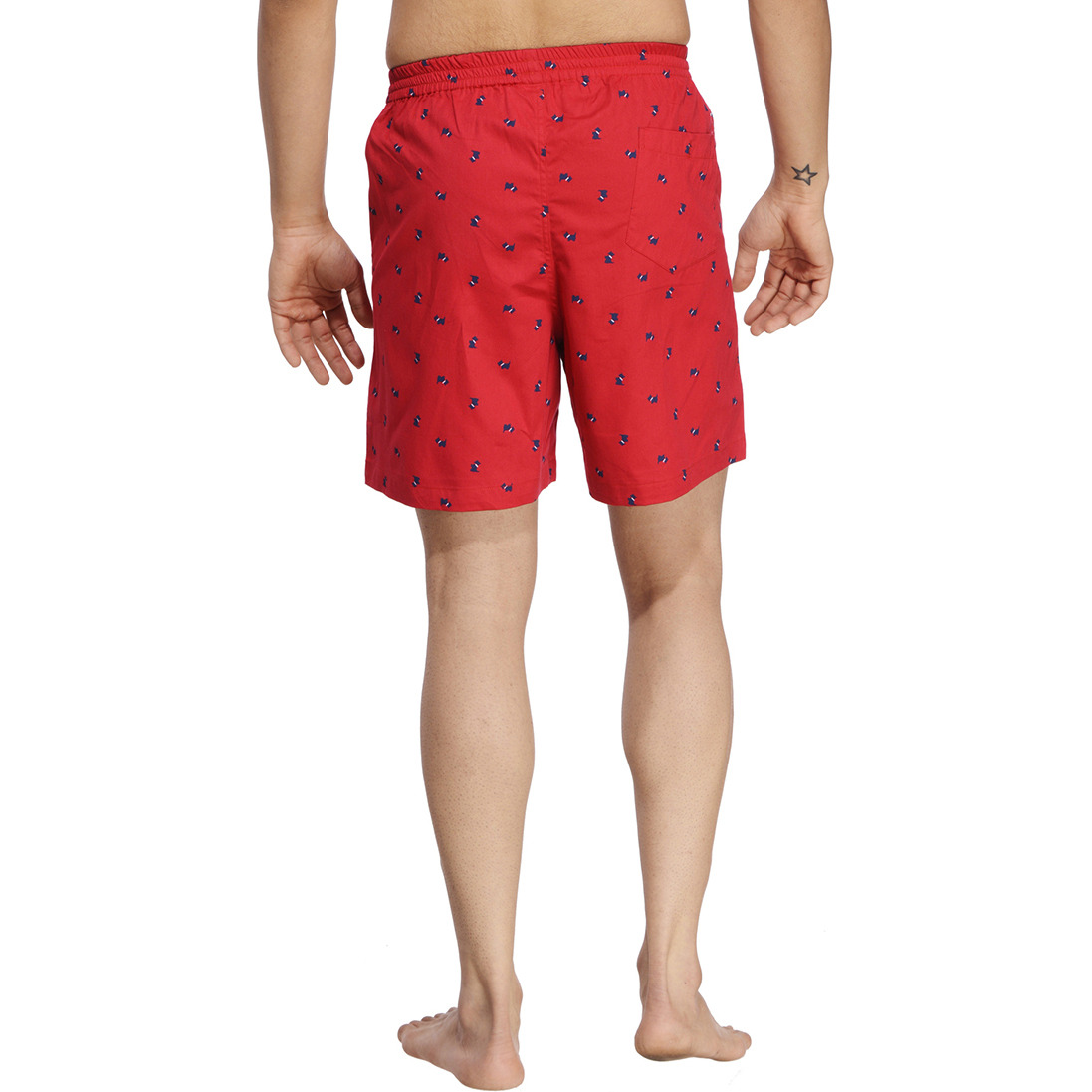 Red Printed Boxer (Size:XL)