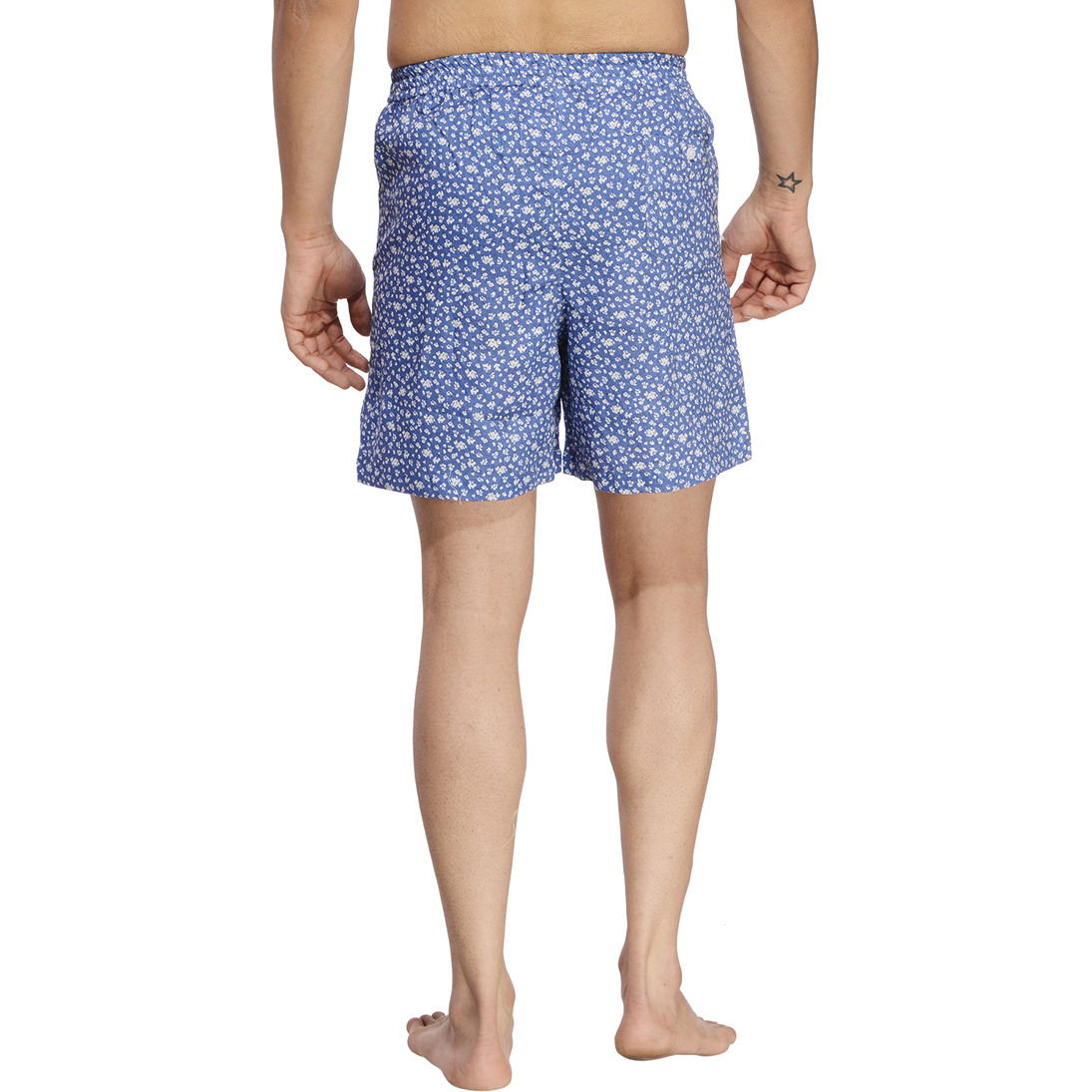 Blue Printed Boxer (Size:M)
