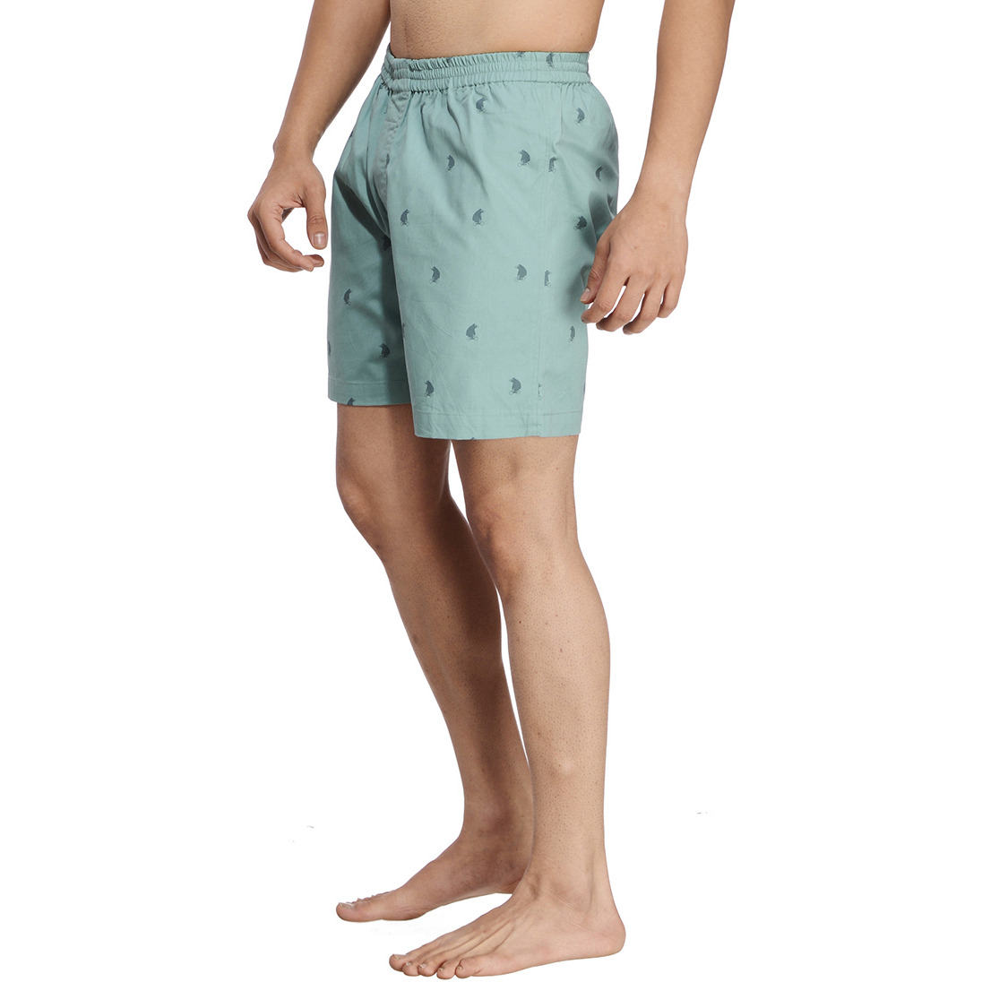 Green Printed Boxer (Size:S)