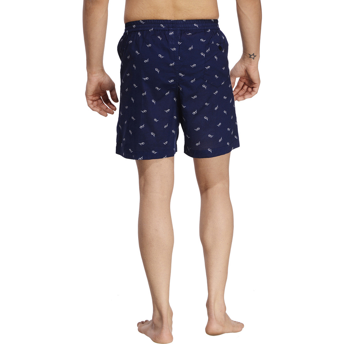 Navy Blue Printed Boxer