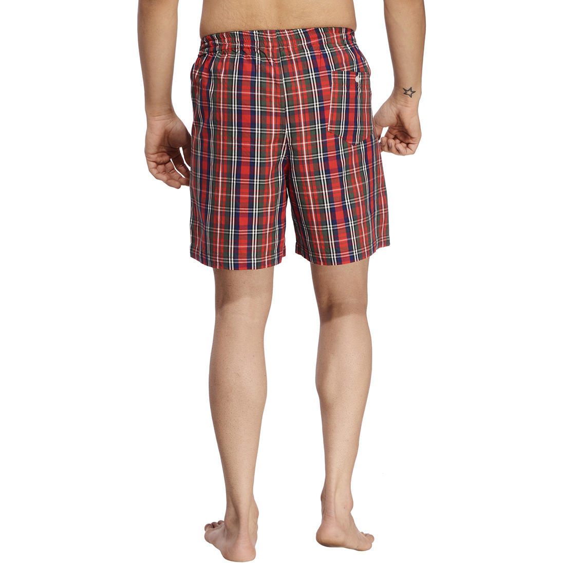 Multicoloured Checked Boxer (Size:S)