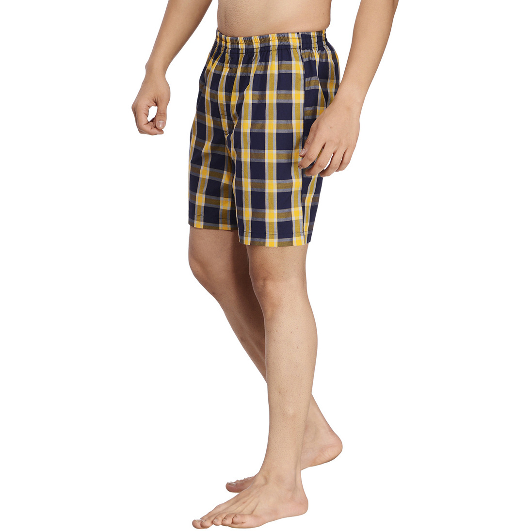 Multicoloured Checked Boxer (Size:XL)