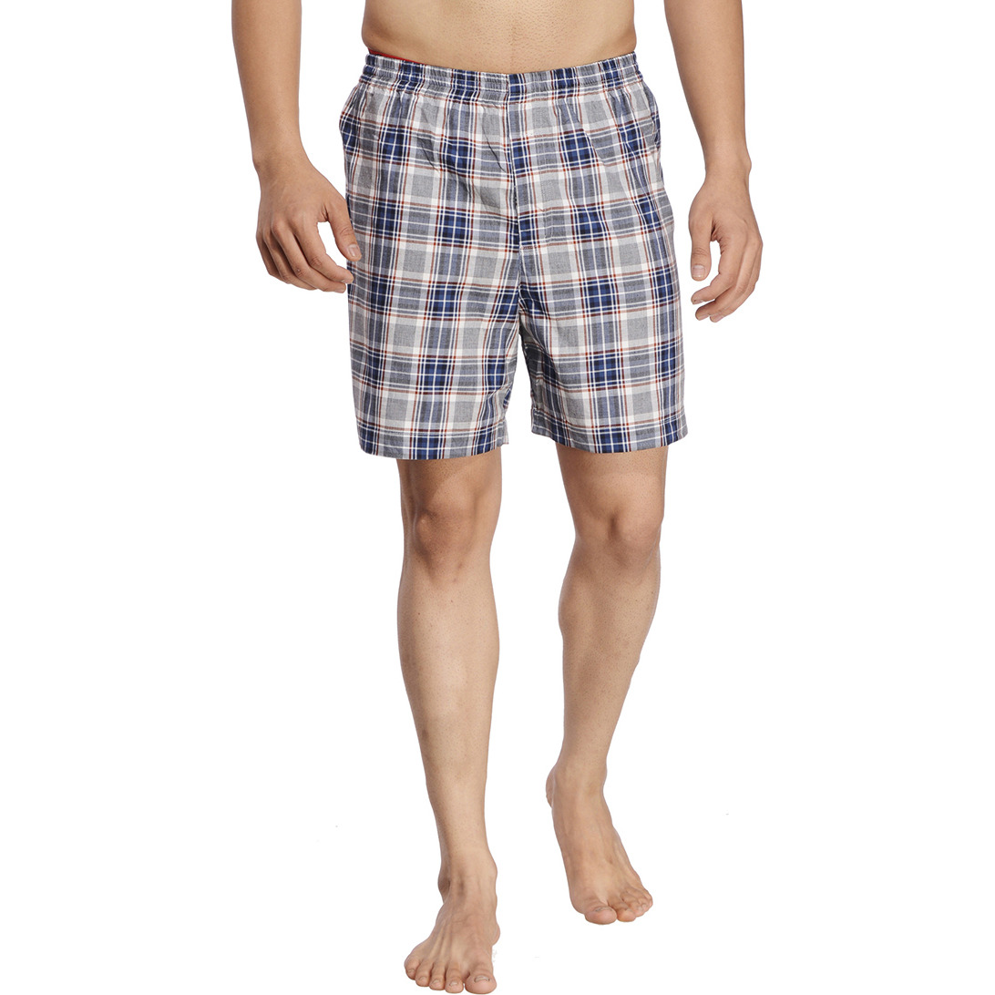 Grey Checked Boxer (Size:M)