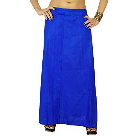 Solid Bollywood Cotton Inskirt Stitched Indian Petticoat Lining For Sari