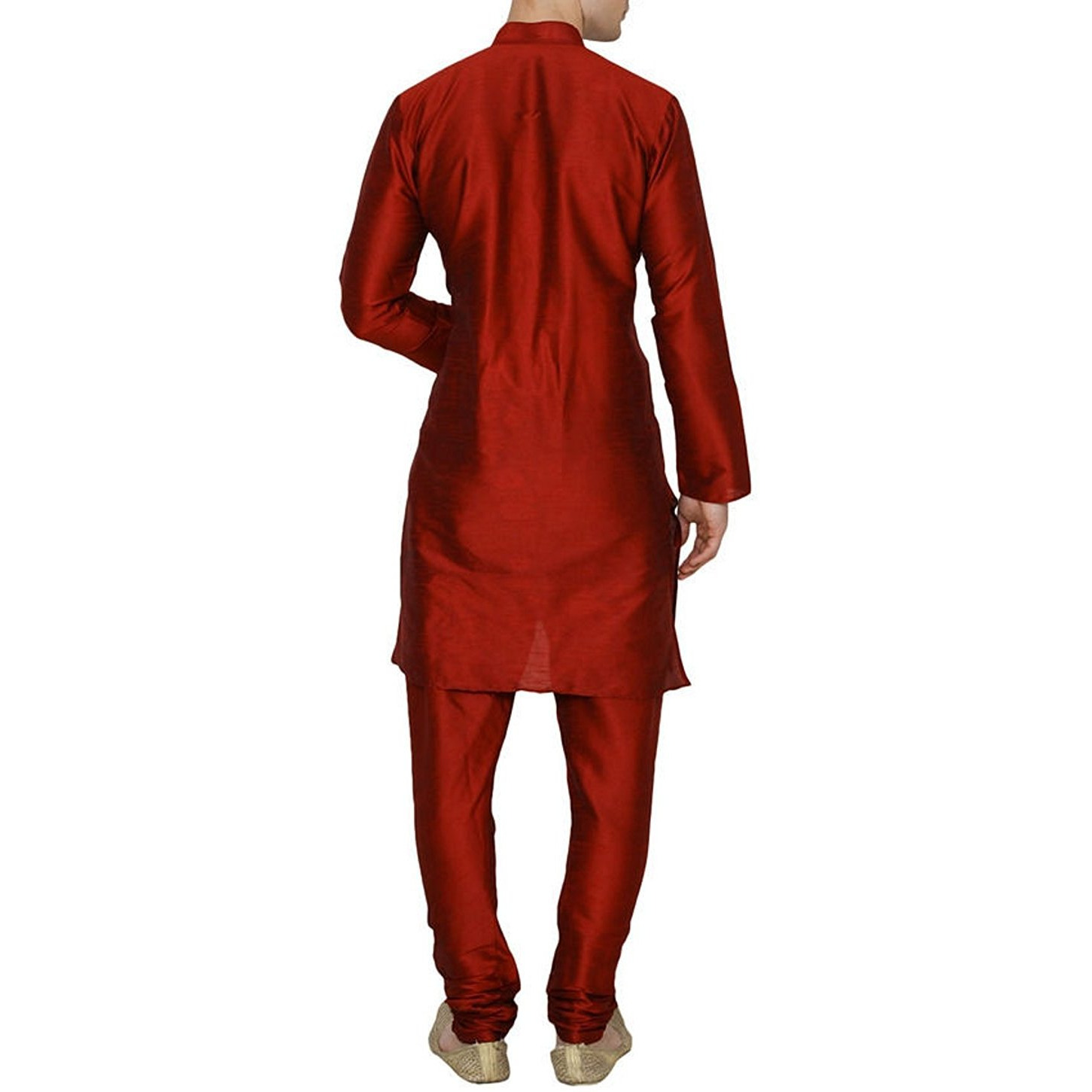 Maroon Silk Kurta Pajama For Men's Indian Clothing