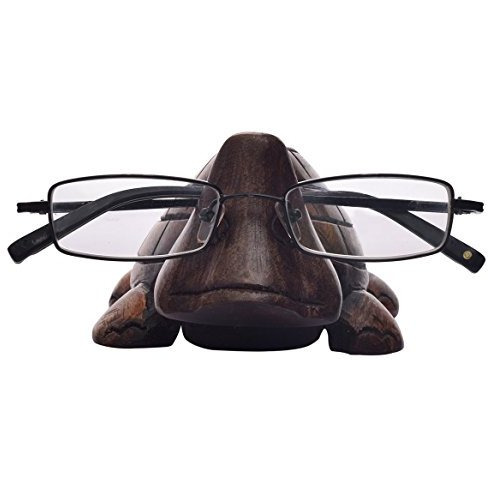Winmaarc Wooden Spectacle Holder Turtle Eyeglass Stand Handmade Display Optical Glasses Accessories