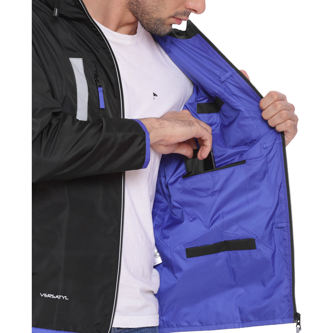 VERSATYL - World's 1st Multi-Utility Stylish Travel Jacket with 18 pockets and 29 features for Men and Women - S (Size:XL)