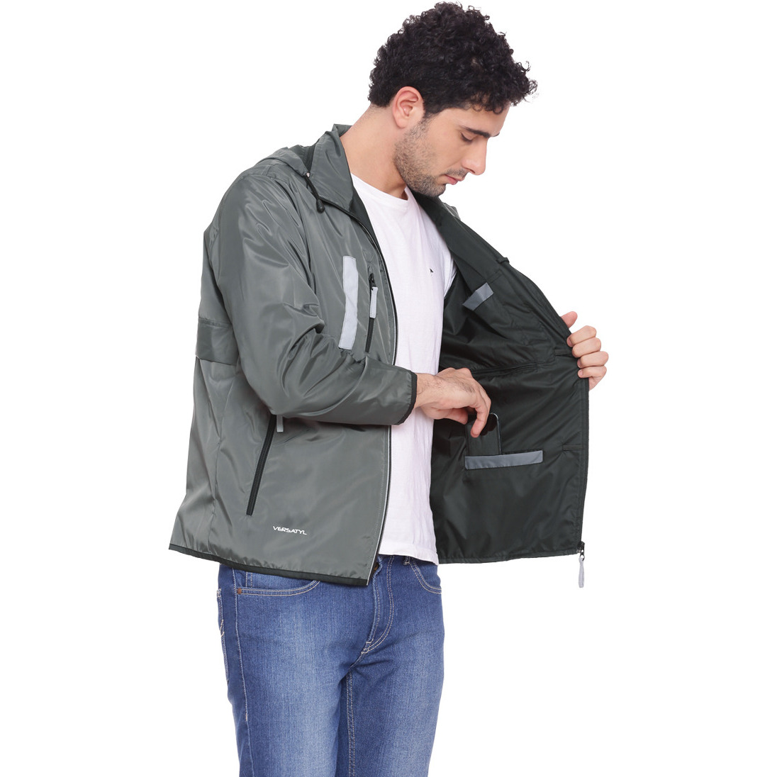 VERSATYL - World's 1st Multi-Utility Stylish Travel Jacket with 18 pockets and 29 features for Men and Women - L (Size:XXL)