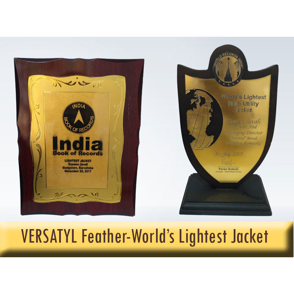 VERSATYL  Feather  World's Lightest And Stylish Jacket For Men And Women - L (Size:L, Color:BLUE)