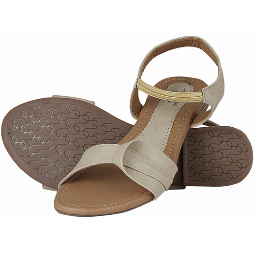 Style Buy Style Cream Flat Casual Fashionable Sandal For Women