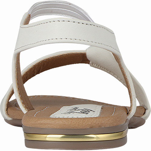 Style Buy Style White Flat Casual Fashionable Sandal For Women