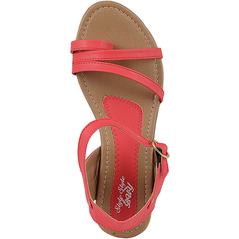 Style Buy Style Peach Flat Casual Fashionable Sandal For Women