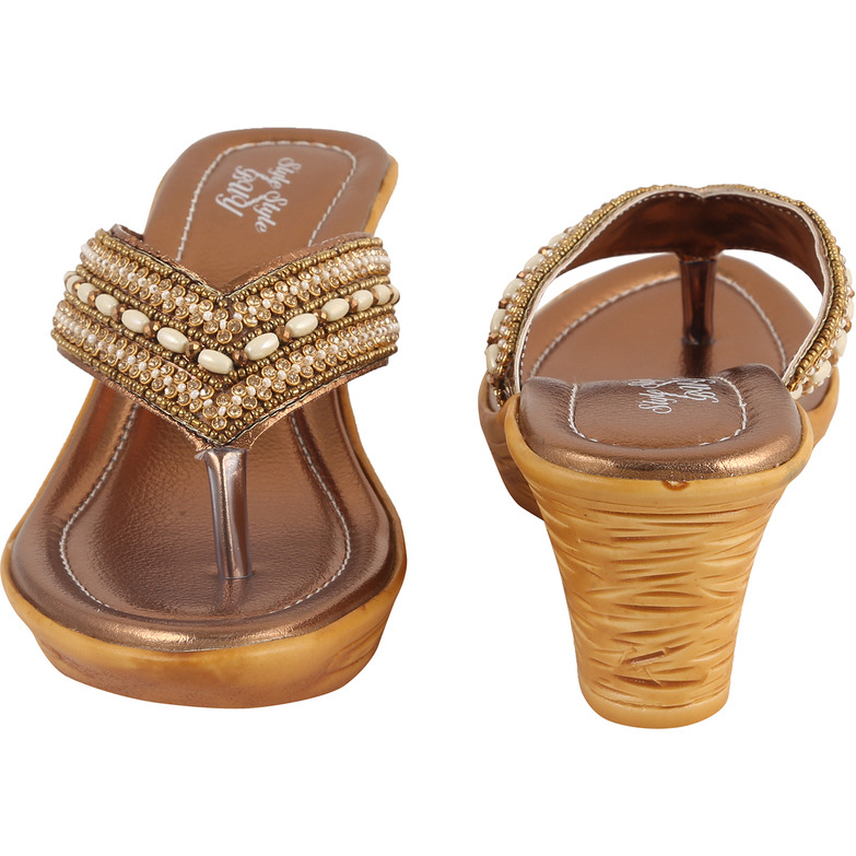 Style Buy Style Copper Party  Casual Fashionable Sandal For WomenS