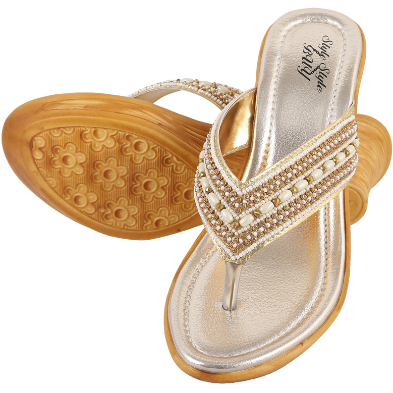 Style Buy Style Gold Party  Casual Fashionable Sandal For WomenS